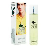 Мужской парфюм LACOSTE 12.12 Jaune Optimistic Yellow 55ml оригинал